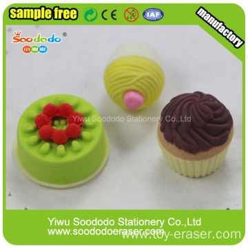 OEM cake shaped promotional erasers